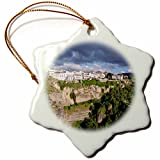 3dRose Danita Delimont - Mountains - Spain, Andalusia, Ronda. - 3 inch Snowflake Porcelain Ornament (orn_277901_1)