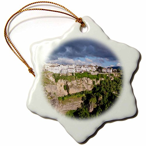 3dRose Danita Delimont - Mountains - Spain, Andalusia, Ronda. - 3 inch Snowflake Porcelain Ornament (orn_277901_1) by 3dRose