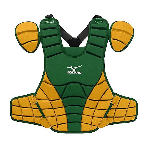 Mizuno Samurai G3 16-Inch Chest Protector (Forest/Yellow) Mizuno Samurai Chest Protector