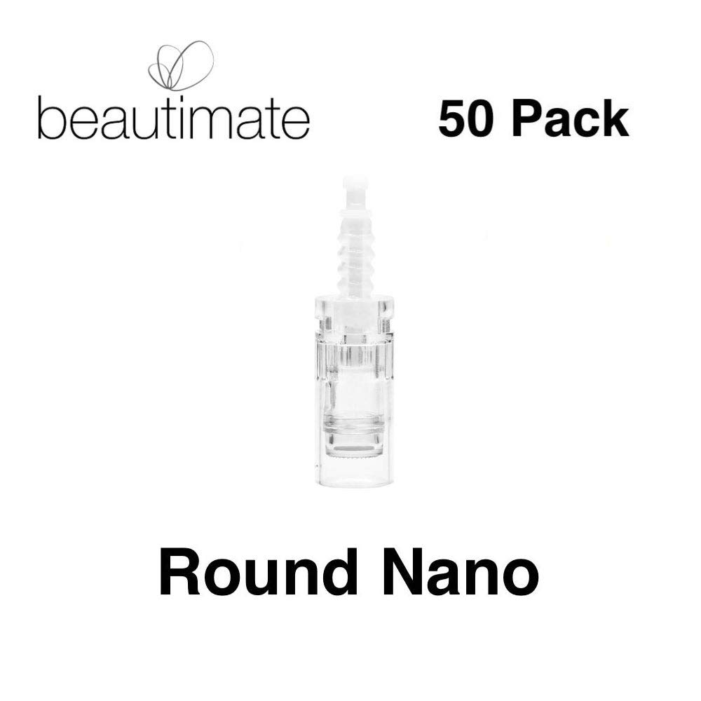 beautimate Skincare System Replacement Cartridges 12 Pin, 36 Pin, Round Nano (50 Pack) (Round Nano) by beautimate