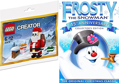 Lego Santa + Frosty the Snowman (45th Anniversary) Animated DVD Buildable Toy Mini Figure Christmas Classic Holiday Special