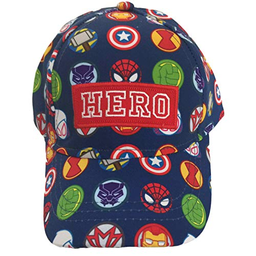Marvel Super Hero Little Boys Toddler Baseball Hat Cap Blue ()