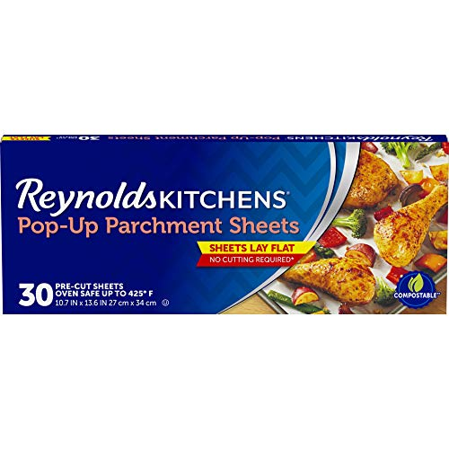 Reynolds Kitchens Pop-Up Parchment Paper Sheets - 10.7x13.6 Inch, 30 Sheets