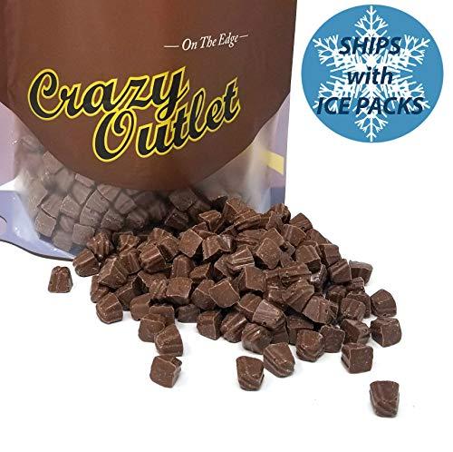 CrazyOutlet Pack - Milk Chocolate Sea Salt Caramel Truffle Mini Candy, Shelf Stable, Bulk Pack, 2 lbs