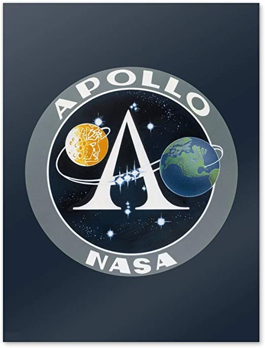 "NASA APOLLO PROGRAM STICKER Authentic NASA SPACE 3.5/"" Made in USA"