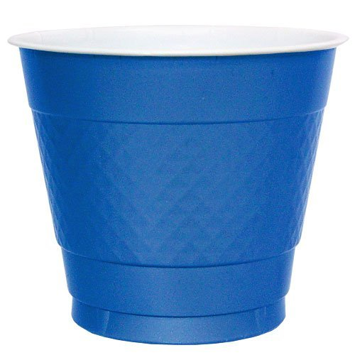 Hanna K. Signature Collection 50 Count Plastic Cup, 9-Ounce, Blue