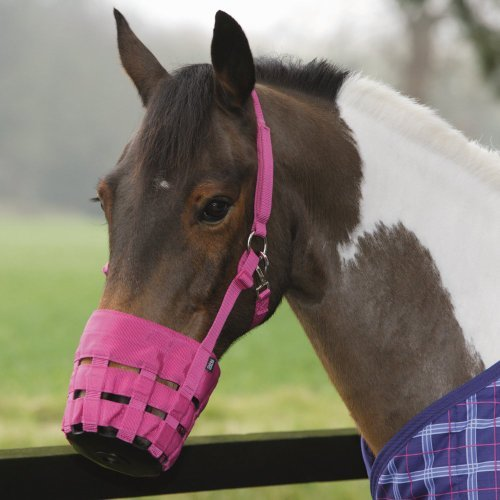 Shires, Nylon Grass Muzzle Cob Pink