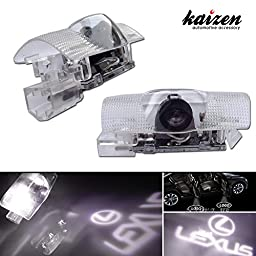 Kaizen 2 Pcs OEM Fit Super Bright LED Laser Ghost Shadow CREE Door Step Courtesy Welcome Light Lamps For Lexus IS ES RX GX LX CAN-bus No Error