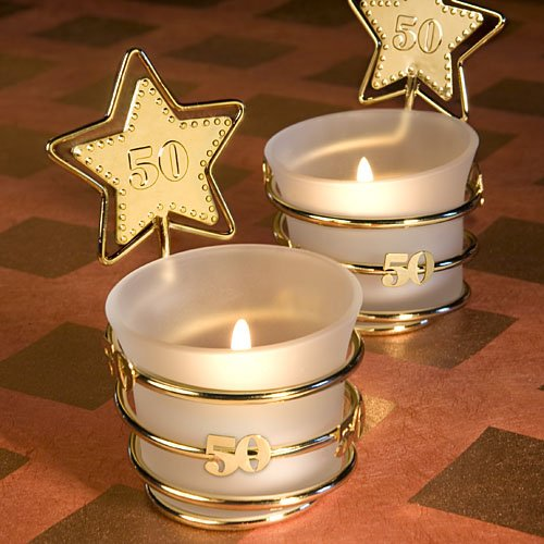 50th Anniversary Candle Favors - 8