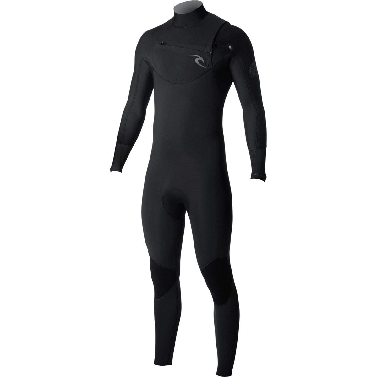 Rip Curl Dawn Patrol Chest Zip 4/3 Wetsuit, Black, Small/Tall