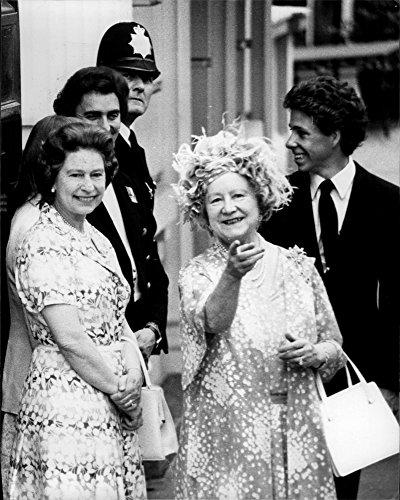 Queen Elizabeth 80th Birthday - Vintage photo of Queen Elizabeth II, along with her mother, Queen Mother on her 80th birthday