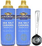 Ghirardelli - Sea Salt Caramel Flavored Sauce 17 Ounce Squeeze Bottle (Pack of 2) with Limited Edition Measuring Spoon
