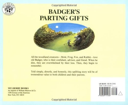 Badgers parting gifts susan varley 9780688115180 amazon books fandeluxe Images