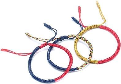 Protection Original Tibetan Buddhist Handmade Love LUCKY Knots Rope Bracelet Size Adjustable