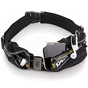 Running Belt USA Patented – iPhone X 6 7 8 Plus Pouch for Runners . Best Fitness Gear for Hands-Free Workout . Freerunning Reflective Waist Pack Phone Holder . Men, Women, Kids Running Accessories