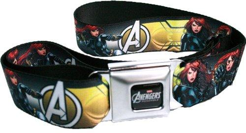 Marvel The Avengers Seatbelt Belt - Characters - Black Widow w/ Avengers Logo -