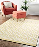 Mohawk Home Soho Twisted Rope Sunset Geometric Printed Area Rug, 7'6 x 10′, Yellow Review