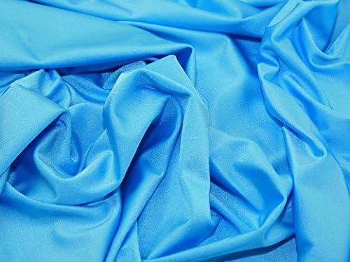 Tela de lycra lisa y elástica de nailon y licra de color turquesa ...