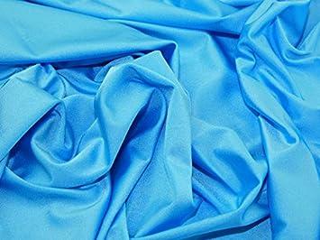 Tela de lycra lisa y elástica de nailon y licra de color turquesa – 1/