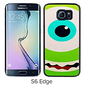 Hot Sale Samsung Galaxy S6 Edge Case ,Monster University Mike and Sulley 13 Black For Samsung Galaxy S6 Edge Cover Unique And Beautiful Designed Phone Case