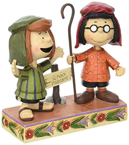 Peanuts by Jim Shore Marcie and Peppermint Patty Stone Resin Figurine, 4.5