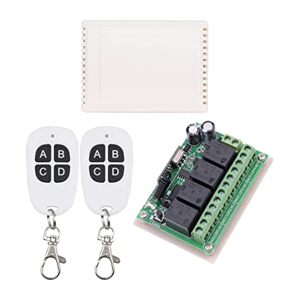 12V RF Wireless Relay Remote Control Switch, 10A Universal 4