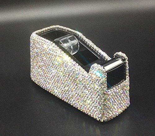 - TISHAA Bling Bling Luxury Crystal Handmade Diamond Desktop Tape Dispenser (1-White)