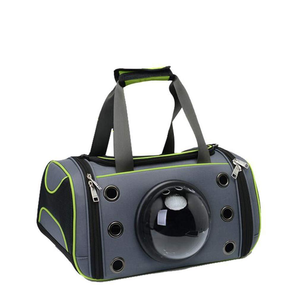 Green Pet bag Cat Bag Space Capsule Out Portable Cat Backpack Transparent Pet Backpack Space Capsule Lostgaming (color   GREEN)