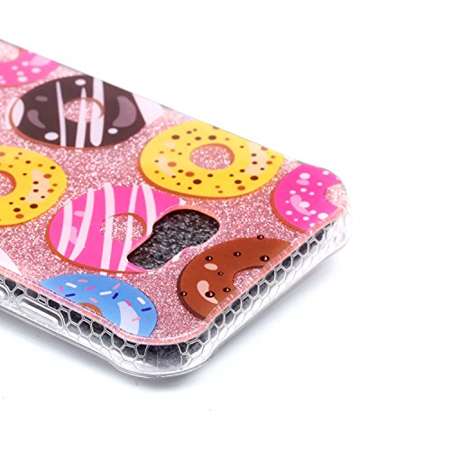 Sunroyal ® Galaxy A5 (2017) Funda - Ultra Slim Semitransparent TPU Bumper Gel Silicona Parachoques Samsung A5 (2017) Glitter Flexible Carcasa Cover Cubierta Brillante Phone Telefono Case Protectora Ca A-02