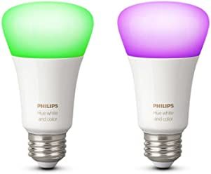 Philips 8718696729052 Hue White and Color Ambiance LED-Lampe Doppelpack, E27, 2er-Pack