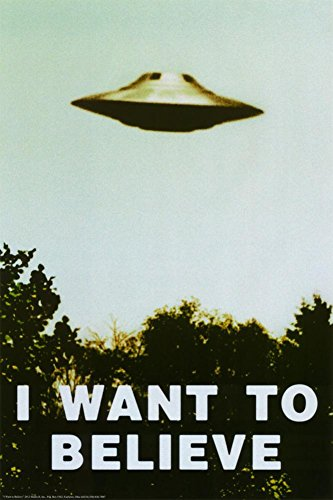 The X-Files - I Want To Believe Print Poster 24 x 36in with Poster Hanger