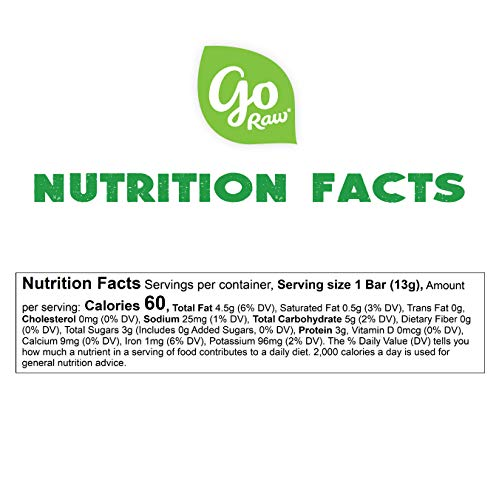 Go Raw Pumpkin Seed Bars | Keto | Gluten Free Snacks | Vegan | Organic | Paleo | Superfood (10 Bars) 7