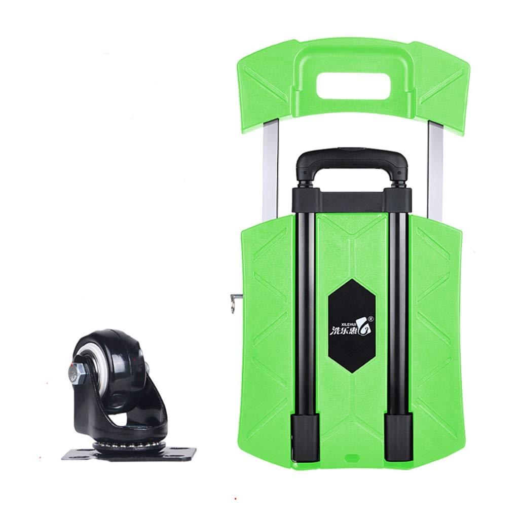 SZQ トロリー、小型カート食料品買い物カゴプルトラック折りたたみ車ポータブルトロリー家庭用フラットベッドトロリーバントレーラー44.5 * 31 * 11センチメートル 利便性 (色 : Green, サイズ さいず : A) B07K5C6VGK A Green Green A