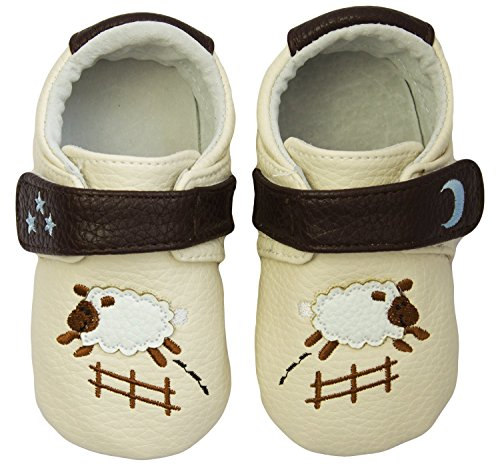 Rose & Chocolat Rcm Goodnight Sheep Cream - Zapatillas de running Bebé-Niñas Beige (cream)