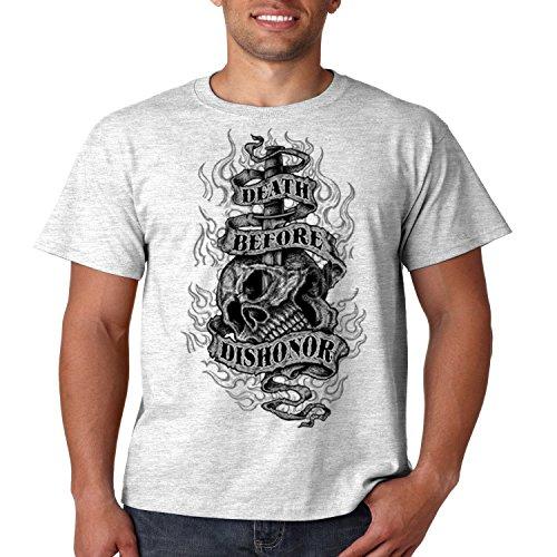 Patriotic T Shirt Death Before Dishonor Mens Tee S-5XL (Ash Gray, 4XL)