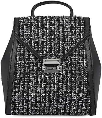 Michael Kors Medium Whitney Textured Backpack- Black