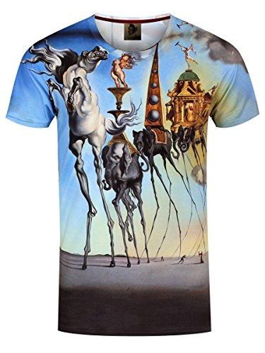 Monkey Business Herren T-Shirt Surreal World blau