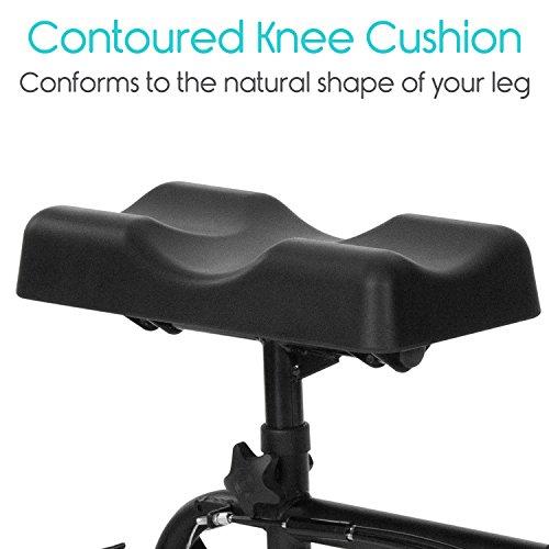 Vive Walker - Steerable Leg, Ankle Injuries - Kneeling Quad Cart Orthopedic Pad Elderly Medical - 4 Wheel -