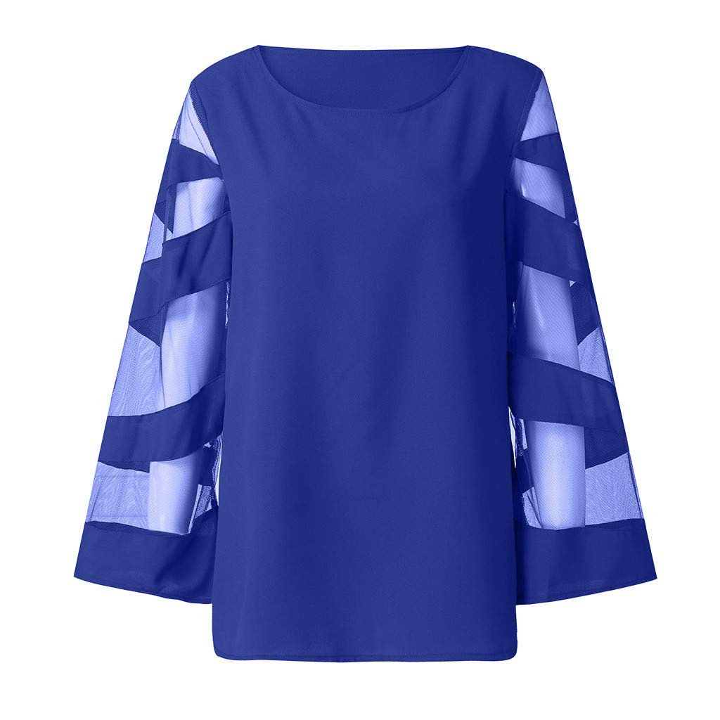 Weginte Women Shirts and Blouses Solid Color Lace Patchwork Sweatshirt Casual Cozy Loose Pullover Long Sleeve Tunic Tee Top