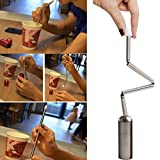AutumnFall Clearance!!!❤️❤️2018 New Creative Design Collapsible Reusable Straw Stainless Steel Portable Foldable Straws For Outdoor Travel Home Bar (Silver)