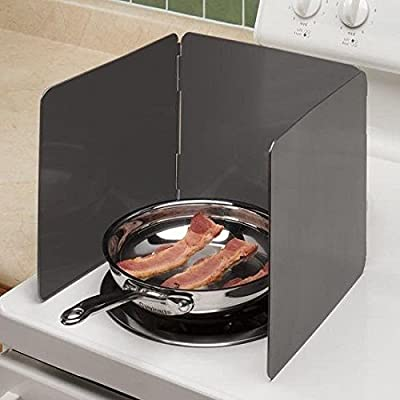 """Norpro Nonstick 3 Sided Splatter Guard Cover Bacon Grease Shield 9X10"""" Panels"""