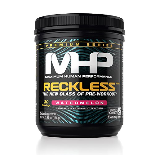 MHP, Reckless Pre-Workout, Watermelon, 5.92 Ounce