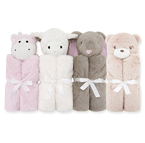 GudeHome Baby Boys Blanket Swaddling Infant Sleeping Bag Bathrobe Towel With Cute Animal Head 76x76cm (thick-Brown Rabbits) E160724MT01009