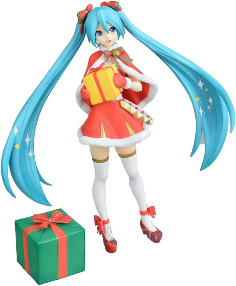 Miku Figure Christmas 2021 Amazon Com Sega Hatsune Miku Super Premium Action Figure Christmas 2019 9 Toys Games