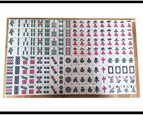 麻雀 麻雀 麻雀tile ハンド麻雀 家庭用麻雀 手遊び麻雀 面白い麻雀144 レジャーギフト 無料のテーブルクッション ゲーム (Color : 白, Size : 4.2*3.1*2.1cm)