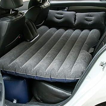 Sinbide Colchón hinchable para coche, todoterreno, colchón hinchable para coche, con bomba, colchón de aire móvil, más grueso, colchón para viajes, ...