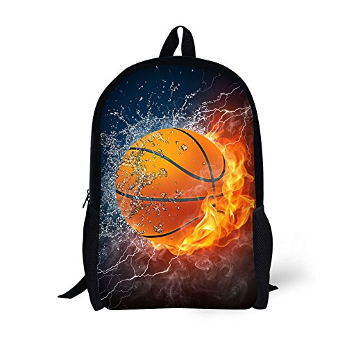 Children's Travel Package Age6-16 Polyester 17 Inch Combustion pattern School bag (School Package)