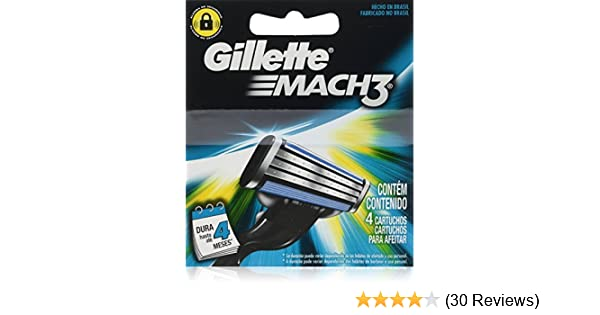 Amazon.com: Gíllette Mach 3 Razor Refill Cartridges, 16 Count (4 Pack, 4 Blades to a Pack): Health & Personal Care
