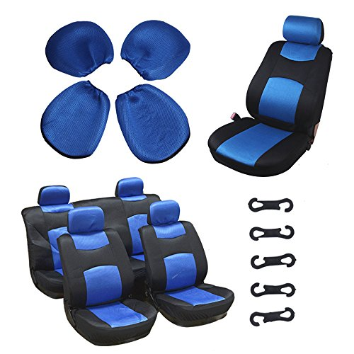 1957 Bel Air Wagon (Car Seat Cover,Stretchy Universal Seat Cushion w/Headrest 100% Breathable Automotive Accessories with Durable Washable Mesh Cloth for Most Cars Trucks Vans(Blue/Black))