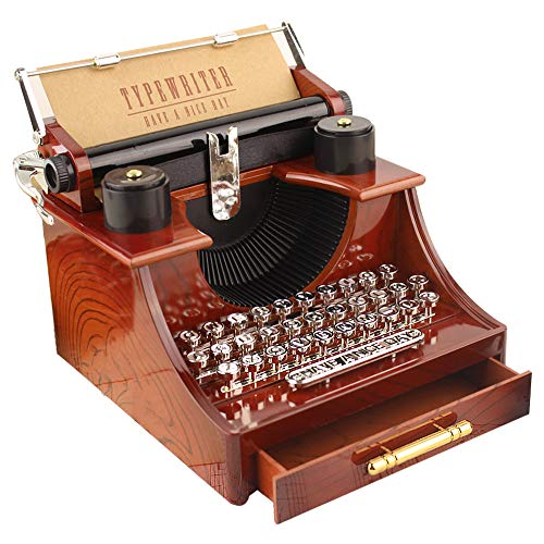 Iusun Luxury Typewriter Music Box, Clockwork Music for sale  Delivered anywhere in USA
